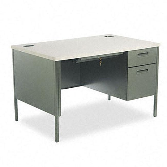 hon metro classic series hand painted 48 inch right pedestal desk