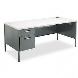 HON Metro Classic Series Two-Drawer Left-Pedestal Desk