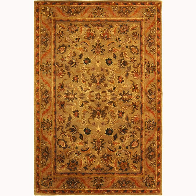 Safavieh Handmade Antiquities Kasadan Olive Green Wool Rug (4' x 6')