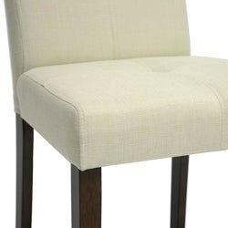 Baxton Studio Glen Cream Fabric Dining Chairs (Set of 2)