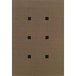 Laguna Indoor/ Outdoor Beige Geometric Rug (3'7 x 5'6)
