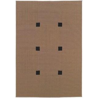 Laguna Beige/ Black Rug (7'3 x 10'6)