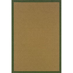 Laguna Beige/ Green Indoor/ Outdoor Rug (2'3 x 7'6)