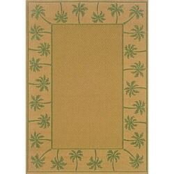 Beige Palm Indoor/ Outdoor Rug (2'3 x 7'6)