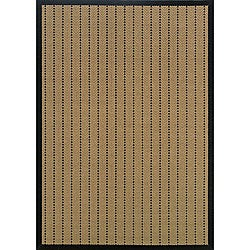 Laguna Beige and Black Polypropylene Rug (3'7 x 5'6)