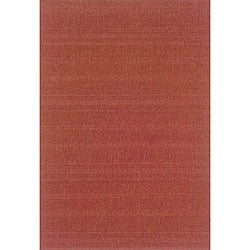 Laguna Red Polypropylene Rug (3'7 x 5'6)