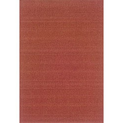 Laguna Red Polypropylene Rug (7'3 x 10'6)