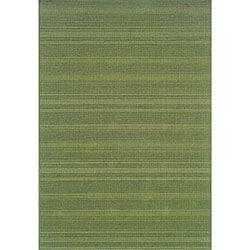Laguna Green Polypropylene Rug (3'7 x 5'6)