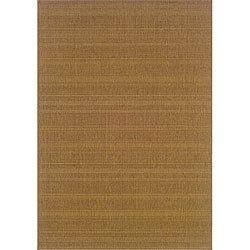 Laguna Brown Polypropylene Rug (3'7 x 5'6)