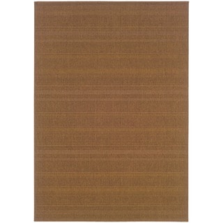 "Laguna Solid Woven Loop-pile Indoor/ Outdoor Area Rug - 3'7"" x 5'6"""