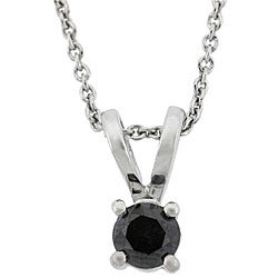 DB Designs Sterling Silver 1/2ct TDW Black Diamond Necklace