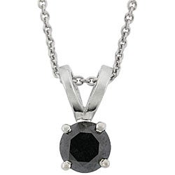 DB Designs Sterling Silver 1ct TDW Black Diamond Necklace