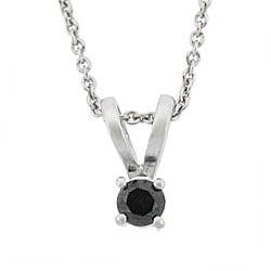DB Designs Sterling Silver 1/4ct TDW Black Diamond Necklace