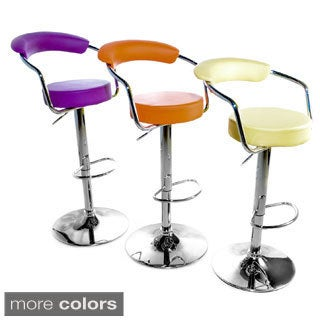 Axis Adjustable Chrome Barstools (Set of 2)