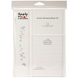 Apple Pie Memories Acrylic Stamping Block Kit