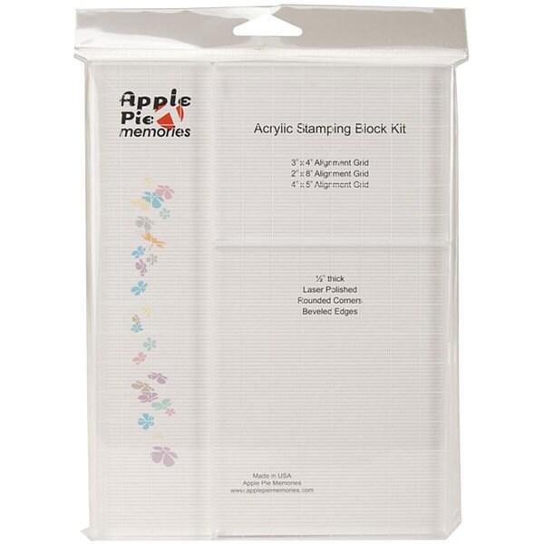 Apple Pie Memories Grid Acrylic Stamping Block Kit