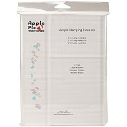 Apple Pie Memories Grid Acrylic Stamping Block Kit