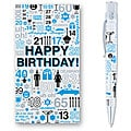 Retro 51 Tornado 'Birthday Greetings' Blue Rollerball Pen