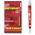 Retro 51 Tornado 'Birthday Greetings' Red Rollerball Pen