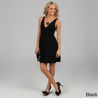 Evanese Women's Short V-neck Dress