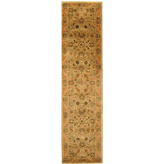Safavieh Handmade Antiquities Kasadan Olive Green Wool Runner (2'3 x 12')