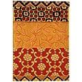 Safavieh Handmade Rodeo Drive Collage Rust/ Gold N.Z. Wool Rug (2' x 3')