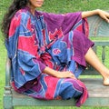 Women's Batik 'Exotic Blue' Robe (Indonesia)
