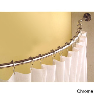 Curved 78 to 84-inch Shower Curtain Rod | Overstock.com Shopping