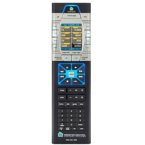 Monster Cable MCC AVL300 Home Theater Lighting Remote Control Oversto