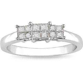 14k White Gold 1/3ct TDW Diamond Ring (H-I, I1)