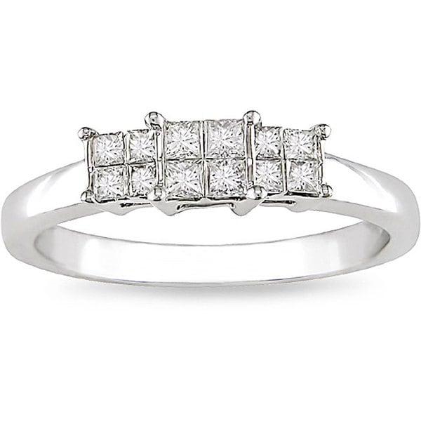 14k White Gold 1/3ct TDW Diamond Ring (H-I, I1)