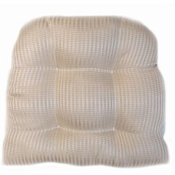 Pinstripe Indoor Wicker Chair Cushion