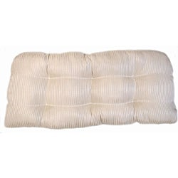 Pinstripe Indoor Wicker Settee Cushion