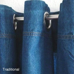 Capri Denim 84-inch Grommet Panel Pair