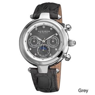 Akribos XXIV Unisex Classique Diamond Automatic Fashion Strap Watch