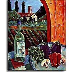 Rhonda Ahrens 'Pinot Grigio' Canvas Art