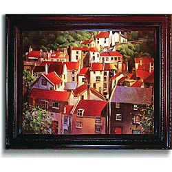 O'Toole 'Rooftops II' Framed Canvas Art