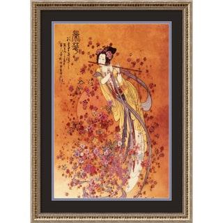 Chinese 'Goddess of Prosperity' Framed Art Print