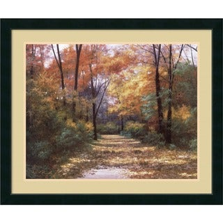 Diane Romanello 'Autumn Road' Framed Art Print