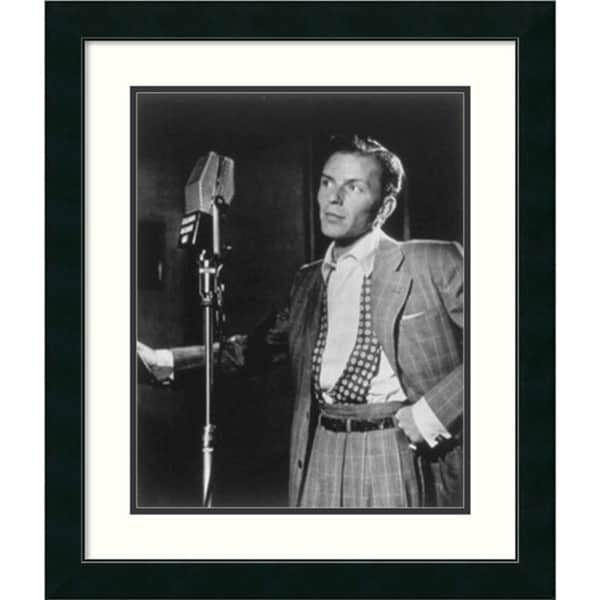 William P. Gottlieb 'Golden Age of Jazz, Frank Sinatra' Framed Art Print