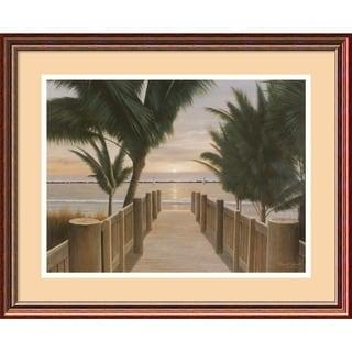 Diane Romanello 'Palm Promenade' Framed Art Print 22 x 18-inch