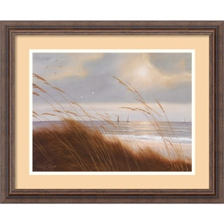 Diane Romanello 'Sailboat Breezeway' Framed Art Print