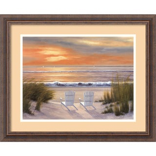 Diane Romanello 'Paradise Sunset' Framed Art Print