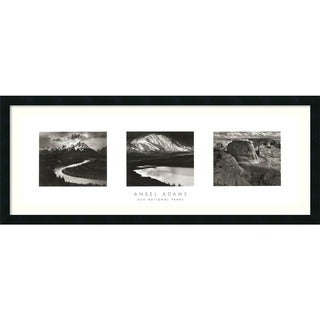 Ansel Adams 'Our National Parks (Triptych)' Framed Art Print