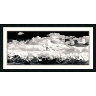 Ansel Adams 'Mount McKinley Range, Clouds, Denali National Park, Alaska, 1948' Framed Art Print