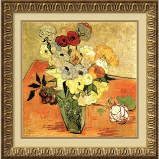 Vincent van Gogh 'Roses and Anemones' Framed Art Print