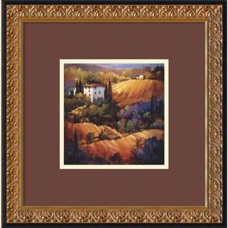 Nancy O'Toole 'Evening Glow Tuscany' Framed Art Print