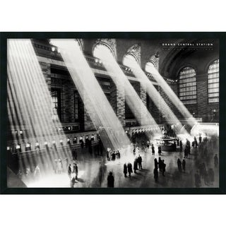'Grand Central Station' Framed Textured Art