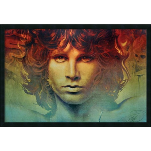 Jim Morrison - Spirit' Framed Art Print with Gel Coated Finish