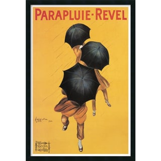 Leonetto Cappiello 'Parapluie Revel' Framed Textured Art